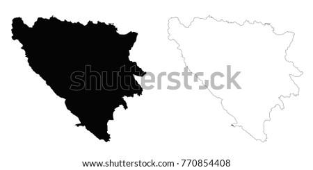 bosnia and herzegovina outline