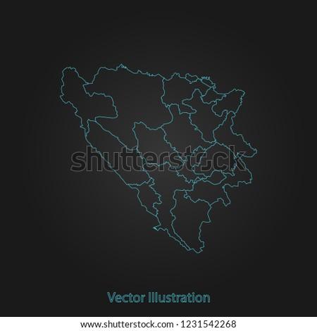bosnia herzegovina cantons map