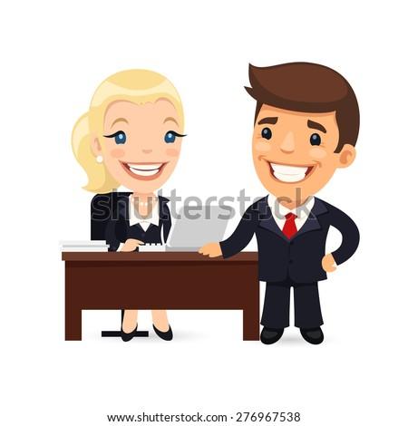 boss and secretary planning