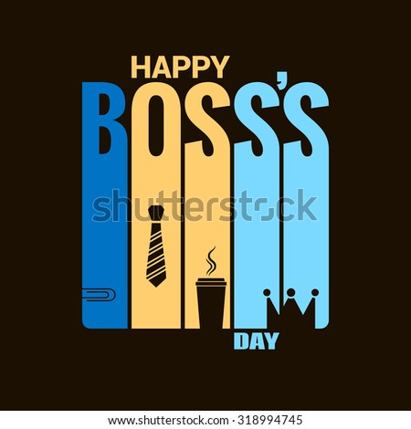 boss day holiday design vector