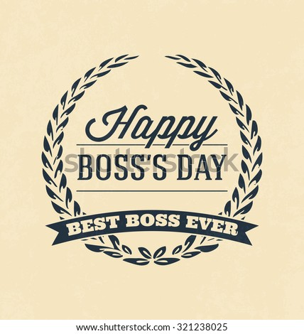 boss day typographic vector