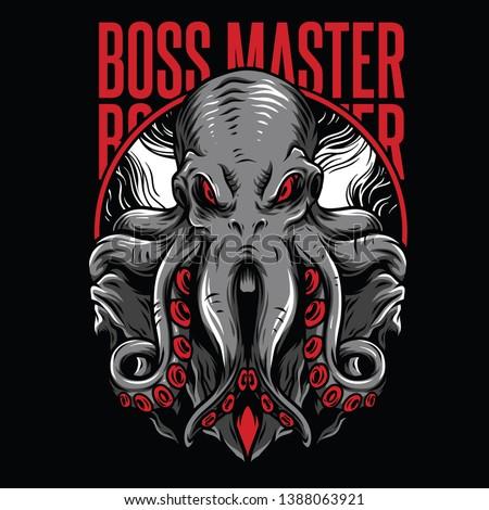 Boss Master Red Mafia Illustration
