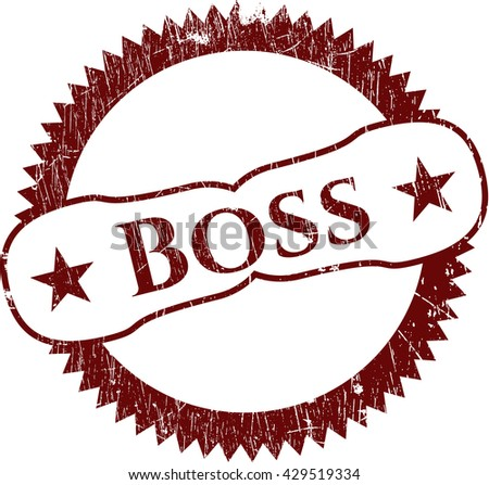 Boss rubber grunge texture stamp