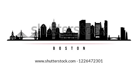 boston city skyline horizontal