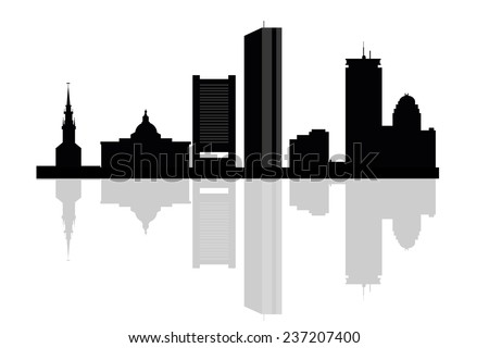 boston skyline illustration download free vector art stock rh vecteezy com  boston skyline outline vector