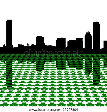 boston skyline happy st