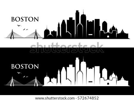 boston skyline   massachusetts