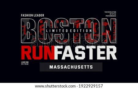 boston typography vector