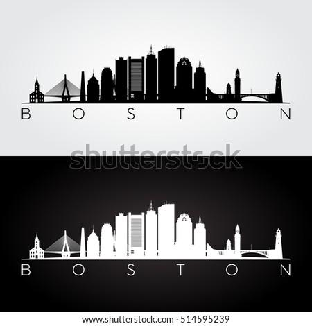 boston usa skyline and
