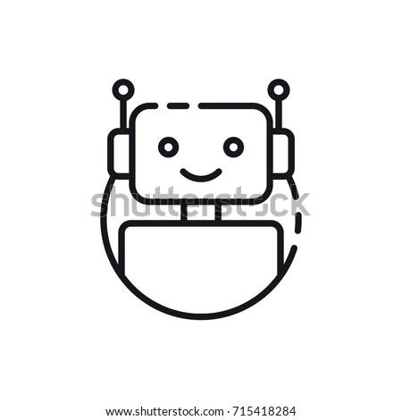bot icon chatbot icon concept