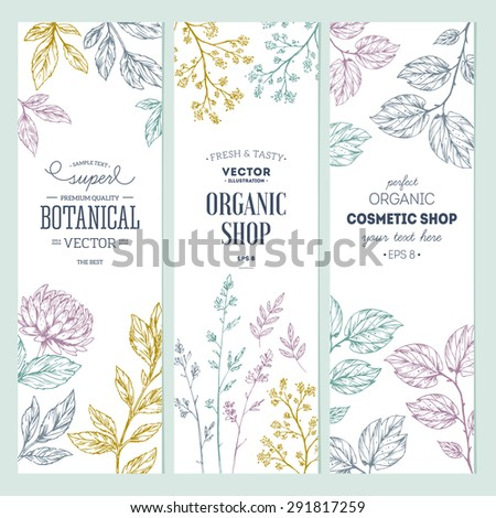 botanical banner collection