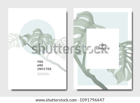 botanical invitation card