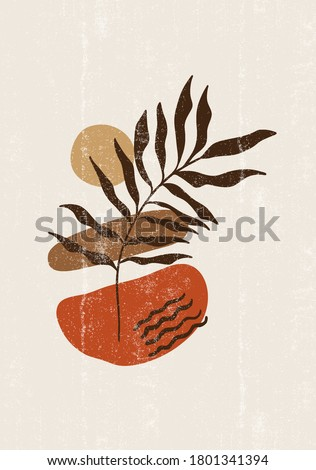 botanical print boho minimalist