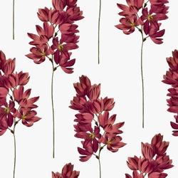 Botanical seamless pattern. Vector floral background