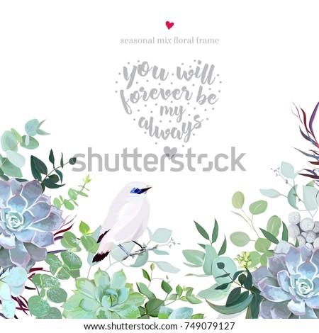 botanical vector design card