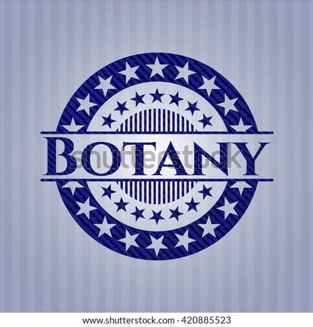Botany badge with jean texture