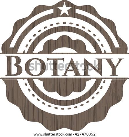 Botany realistic wood emblem