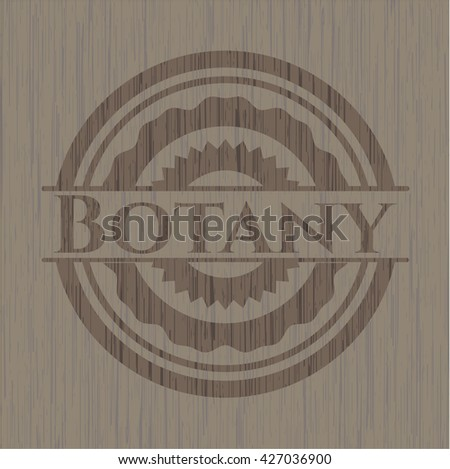 Botany retro wooden emblem