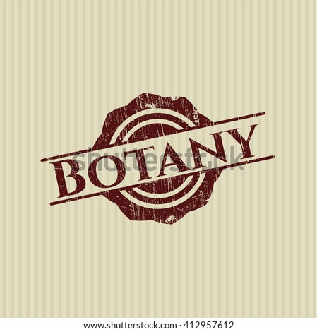 Botany rubber stamp