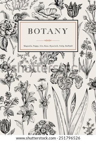 botany vintage floral card