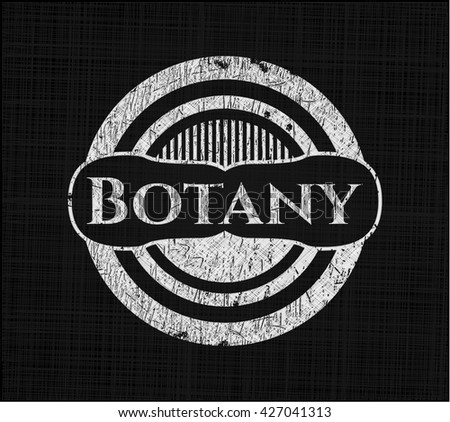 Botany with chalkboard texture