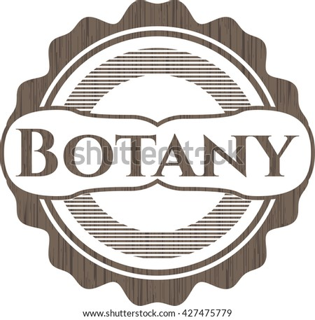 Botany wooden emblem