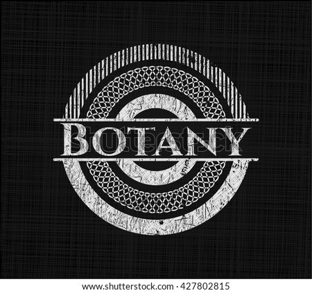 Botany written with chalkboard texture