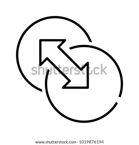 Both side icon, vector illustration