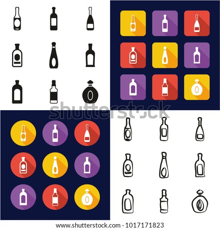 bottle all in one icons black