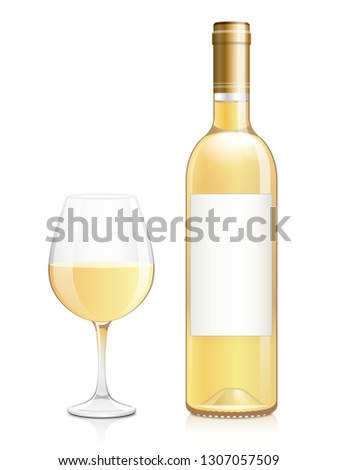 bottle and glass of sweet white