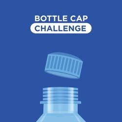 Bottle cap challenge. Bottle cap text for your t-shirt design.  Vector