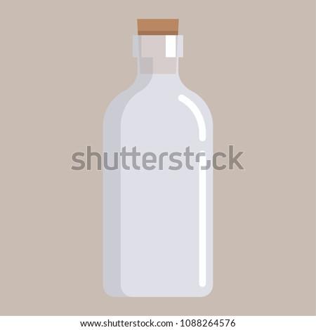 bottle cartoon vector free