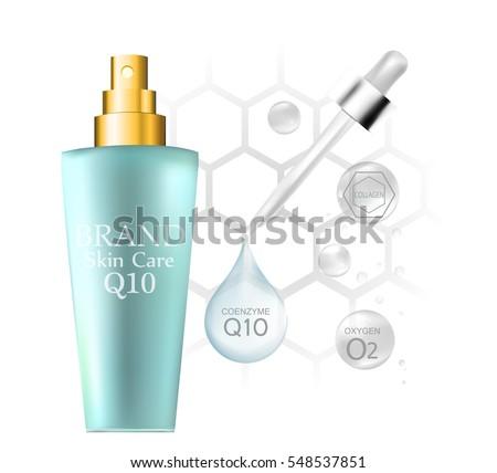 bottle cosmetics hyaluronic acid vector illustration