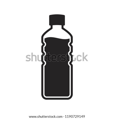 bottle icon in trendy flat design