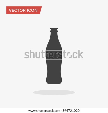 bottle icon in trendy flat
