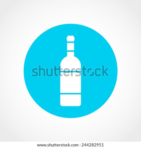 bottle icon isolated on white