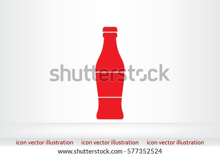 bottle icon vector illustration