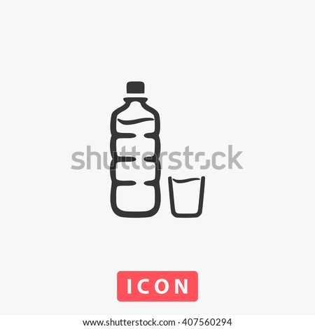 bottle Icon Vector. Simple flat symbol. Perfect Black pictogram illustration on white background.