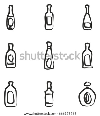 bottle icons freehand