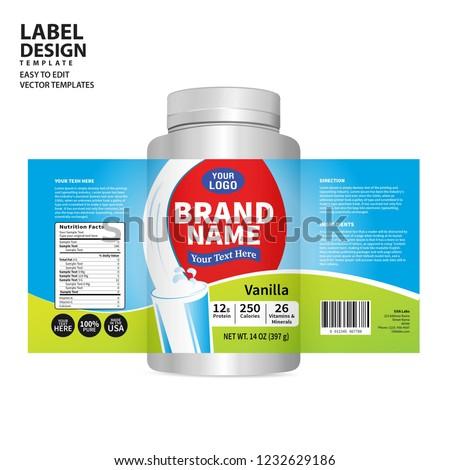 Bottle label, Package template design, Label design, mock up design label template #1232629186