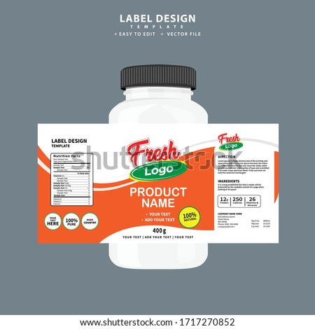 Bottle label, Package template design, Label design, mock up design label template Label design, Editable file, high quality, clean, creative, easy to edit, Vector template