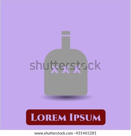 Bottle of alcohol icon