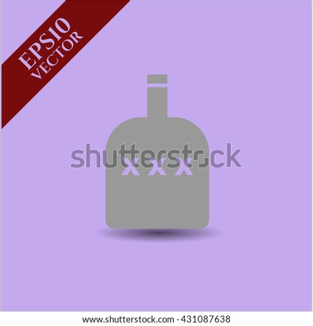 bottle of alcohol icon vector symbol flat eps jpg app