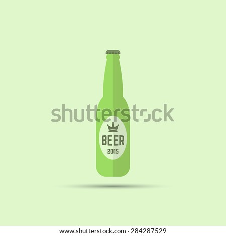 bottle of beer vector colored