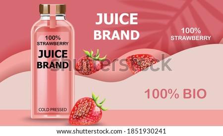 bottle of cold pressed bio