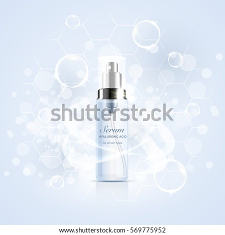 bottle of serum with hyaluronic