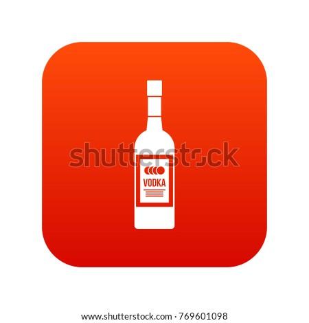 bottle of vodka icon digital