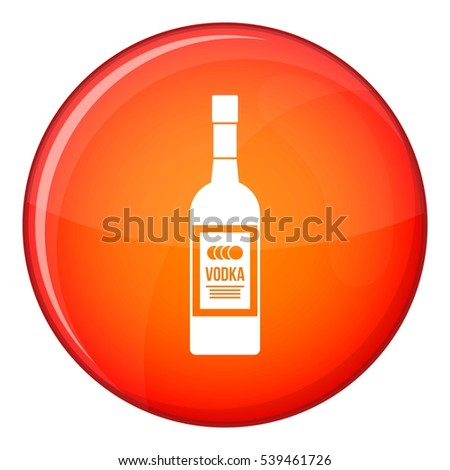 bottle of vodka icon in red