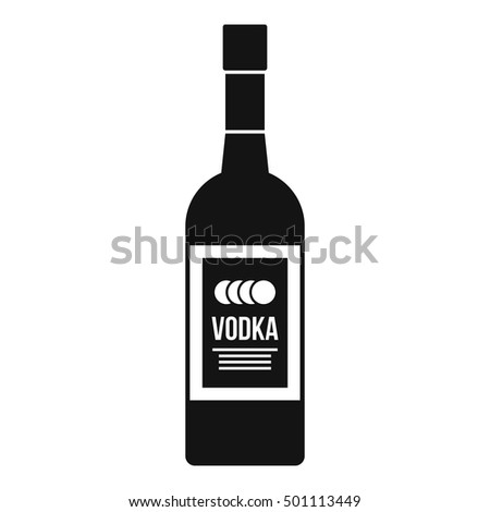 bottle of vodka icon simple