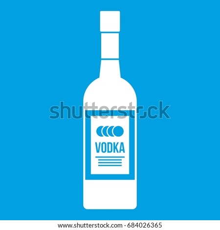 bottle of vodka icon white
